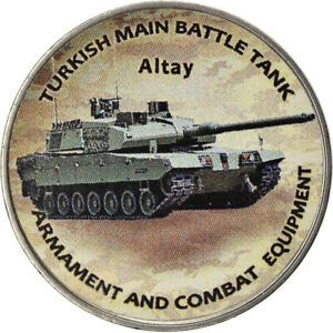 [#784660] Coin, Zimbabwe, Shilling, 2019, Tanks - Altay, MS(63), Nickel plated