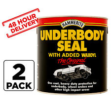 2 x 1 Litre Hammerite Under Body Seal Rust Car Treatment Waxoyl Brush On Paint