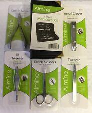 Lot Of 57 ALMINE Professional Manicure Tools Scissors Tweezer Clippers Nippers