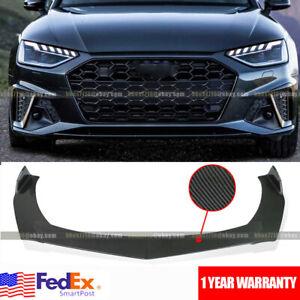 Carbon Fiber Front Bumper Lip Spoiler Splitter For AUDI A3 S3 A4 S4 A5 S5 RS5 A7