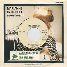 MARIANNE FAITHFULL – Sweetheart – die cut PS JB promo + flip ITALY only
