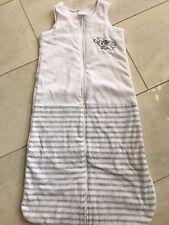 Schlafsack ~ Impidimpi, Baby 👶 90 cm, Nicki/Velour, weiß/grau gestreift