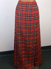 ALJEAN of Canada Vintage Maxi Royal Stewart Tartan Plaid Wrap Kilt Skirt Size 12