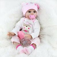 "22""Newborn Doll Real Lifelike Silicone Reborn Baby Dolls Toddler Handmade Toys"