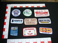 Oil and Gas advertising patch collection set lot vintage