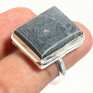 Boulder Agate Gemstone Ethnic 925 Sterling Silver Jewelry Ring 9 US SIZE -75