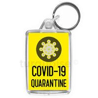 Quarantine Virus Keyring Funny Joke Gift Key Fob Keychain | Medium Size