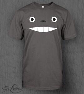 My Neighbour Totoro Face T-Shirt MEN'S Studio Ghibli Top Tee Ponyo Spirited Away