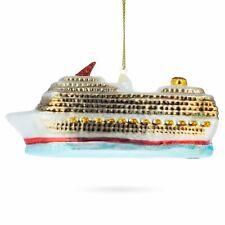 Cruise Ship Blown Glass Christmas Ornament
