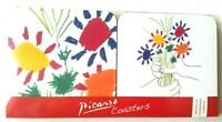 Picasso Bouquet Of Peace 1958 Wooden Coasters Set 4 Cork Backed Heat Resistant