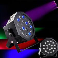 2Pcs DMX512 PAR38 54W 18-LED 4Modes Light RGB Stage Lighting Party DJ Disco Show
