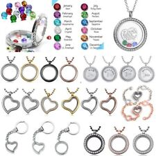 Wholesale Living Memory Floating Locket Charms Pendant Necklace Chain Jewelry