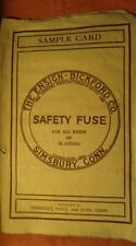 New listing Ensign & Bickford Safety Fuse Co brochure w/ inert examples 1940s ? Avon Conn