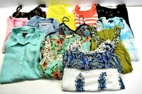 Lot of 12 Mixed Brands Women's Size Large Various Spring Summer Blouses Tanks