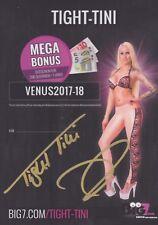 TIGHT TINI Sexy Erotik AUTOGRAMMKARTE signiert Venus Autogramm RAR
