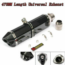 470mm Universal Motorcycle Exhaust Muffler Glossy Dual-outlet Tail Pipe Tip