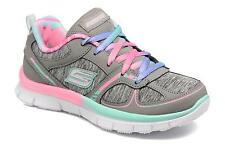 SKETCHERS SKECH APPEALTRAINERS LACE UP SHOES GIRLS CUSHIONED MEMORY FOAM GREY 10