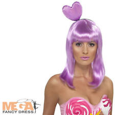 Candy Queen Heart Wig California Girl Fancy Dress Costume Katy Perry Pop Star Ac