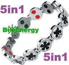 TITANIUM Magnetic Energy Germanium Armband  Power Bracelet Health JADE 5in1 Bio