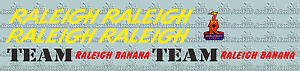 Raleigh Banana team decals - perfect for re-sprays