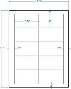 3.5 x 2 White Inkjet / Laser Labels (1000):311455
