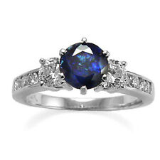 Ring Ring Sizes 4 to 9.5 #R512 14K Gold Natural Sapphire And Diamond Engagement