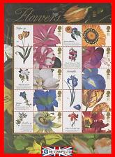 2003 SG. LS11 Flowers Half sheet of 10 with Labels