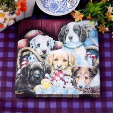 20pcs lovely puppy dog soft decoupage napkin paper  tissue for  party decor