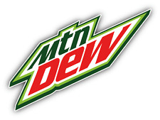 "Mountain Dew American Soft Drink Car Bumper Sticker Decal 6"" x 4''"