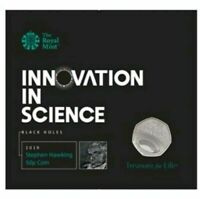 IN HANDS Fifty Pence🌎 Stephen Hawkins 🌍 2019 50p BU Coin In Presentation Pack