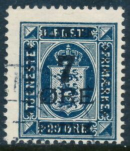 Denmark Scott 191/AFA 166, 7ø/20ø deep blue Provisional, F sound Used