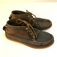 Classic Sperry Topsider Men's Brown Leather Chukka Boots Size 9