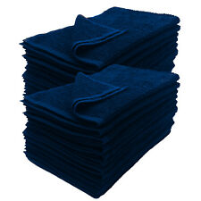 12 NEW BLUE SIZE 16X27 inches SALON BASICS COTTON GYM TANNING HOTEL HAND TOWELS