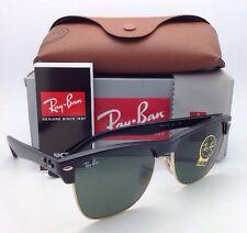 Ray-Ban Sunglasses CLUBMASTER OVERSIZED RB 4175 877 Black-Gold Frame G-15 Lenses