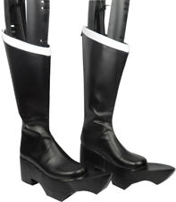Cosplay Boots Shoes for Black Gold Saw Black Rock Shooter Zatsune Miku