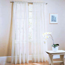 1Pair(2 Panels) Of Lucy Voile Slot Tops Panels -High Quality Net&Voile Curtains
