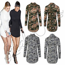 Stretch, Bodycon Long Sleeve Petite Casual Dresses for Women