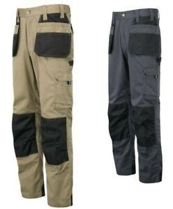 Tuff Stuff Mens Heavy Duty Work Trouser Excel Knee Pad Pockets Pouch Working UK