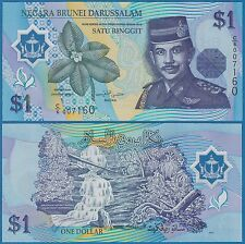 Brunei 1 Ringgit P 22 a 1996 UNC Low Shipping! Combine FREE!  Polymer (P-22a)