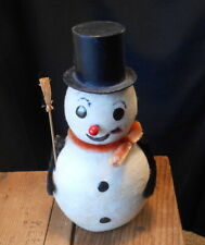 """Vintage Large 6"""" Cotton Batten Snowman - Japan"""
