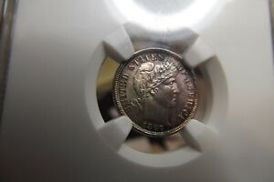 1897-P Barber Silver Dime NGC MS63 Lovely Original Colors