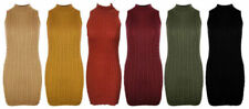 Short Machine Washable Dresses for Women with Knit