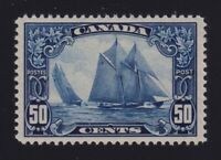Canada Sc #158 (1929) 50c dark blue Bluenose Mint VF NH MNH