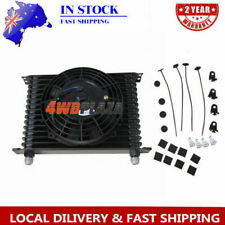 "15Row 10AN Racing Engine Transmission Oil Cooler+7"" Electric Fan Kits"