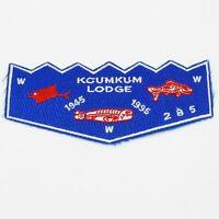 Kcumkum Lodge 285 OA Boy Scout Flap Patch BSA WWW 50 years