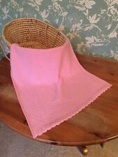 Stunning 90 cashmere 10 viscose baby shawl /blanket/  Comforter. Col. Light Pink