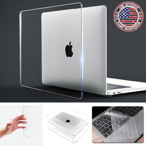 "For 2020 MacBook Air Pro 13"" M1 A2337 A2338 Clear Hard Shell Case Keyboard Cover"