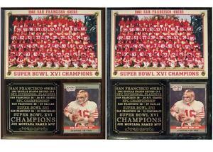San Francisco 49ers 1981 Super Bowl XVI Champions Photo Card Plaque