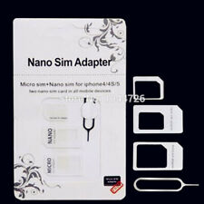 NEW 4 IN 1 PACK NANO TO MICRO & STANDARD SIM CARD ADAPTOR FOR ALL MOBILE PHONES