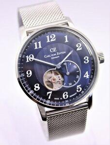 CARL VON ZEYTEN Herren-Armbanduhr CVZ0027BLMB Automatik Milanaise